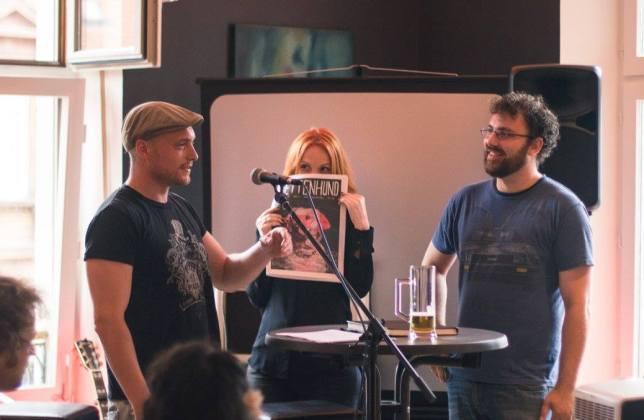 Kai Kraus, Sabrina Albers & Jochen Fuchs/ Kettenhund - Magazin für Literatur / Photo by Vivien Jester